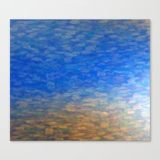 Blue Surface Canvas Print