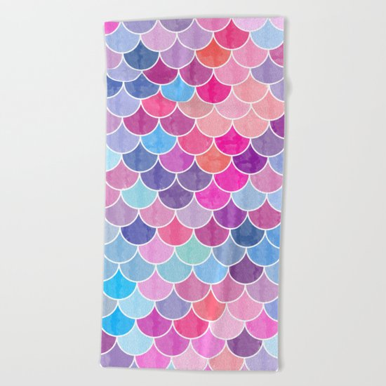 Watercolor Lovely Pattern VIV Beach Towel