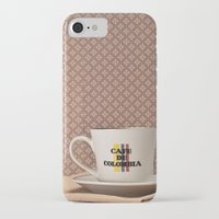 colombia iPhone & iPod Cases featuring Café de Colombia  by Caroline Mint
