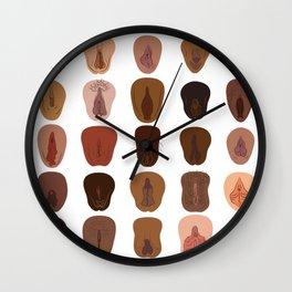 Vulvarieties Wall Clock