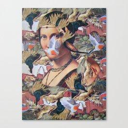 LA BELLE FERRONIERE EN CRAQUELURES Canvas Print