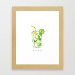 Mojito bath ! with Colin the Yellow Cat Framed Art Print