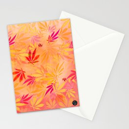 Citrus Cannabis Swirl Stationery Cards