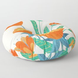 Summer Flowers I Floor Pillow