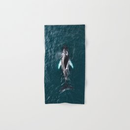 Humpback Whale in Iceland - Wildlife Photography Hand & Bath Towel