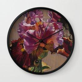 Sunkissed Pink Iris Wall Clock