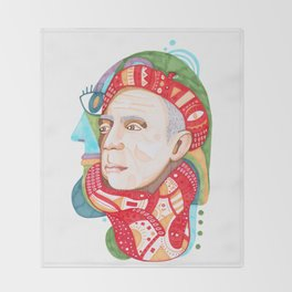 Abstract Pablo Picasso Throw Blanket