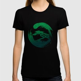 Green Bonsai in Enso T-shirt