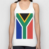 south africa Tank Tops featuring Flag of South Africa by Neville Hawkins