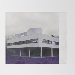 Villa Savoye , Le Corbusier Throw Blanket