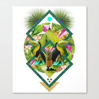 kris tate Canvas Prints featuring ▲ TROPICANA ▲ by KRIS TATE x BOHEMIAN BLAST by ▲ BOHEMIAN BLAST ▲