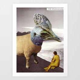 Basilisk by the Lake Art Print