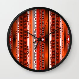 Ethnic stripes. Tribal pattern Indians. Wall Clock