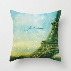 Paris, I Love You Throw Pillow