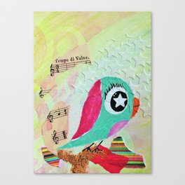 Starr - Quirky Bird Series Canvas Print