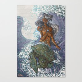 Ura and The Turtle Canvas Print