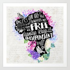 Jane Eyre - No Bird Art Print