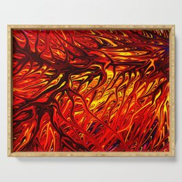 Molten Firegrass V by Chris Sparks Serving Tray