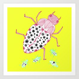 yellow roach Art Print