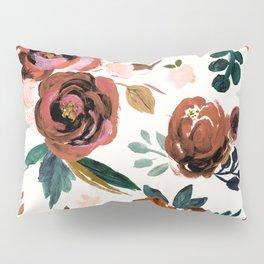 Valentina Vintage Rust Rose Pillow Sham