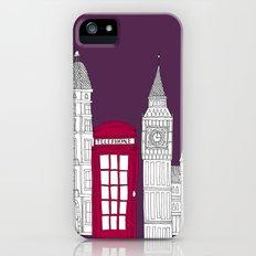 Night Sky // London Red Telephone Box iPhone (5, 5s) Slim Case