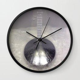 Water Words Eco Art Wall Clock