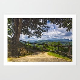 Valley Overlook Art Print