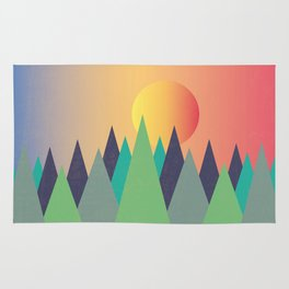 Mountains - The Sunset Rug
