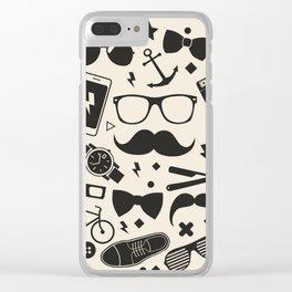 men's accessories Clear iPhone Case