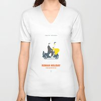 roman V-neck T-shirts featuring Roman Holiday by Smile In The Mind