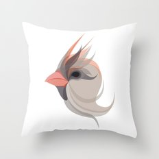 Pink in bird Throw Pillow