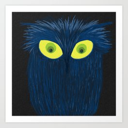 The Blue Owl Art Print