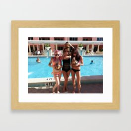 Swimsuits on the Roof Framed Art Print