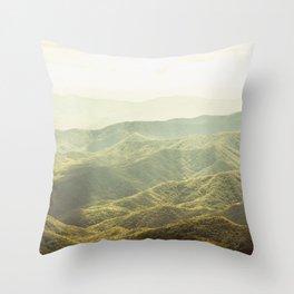 Smoky Mountain Sunshine Throw Pillow