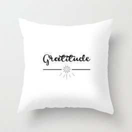 Gratitude Love Grateful inspirational yoga Quote Throw Pillow