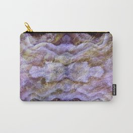Abstract Mineral Amethyst Crystal Texture Carry-All Pouch