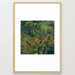 Blue Green Gold Copper Lava Flow Framed Art Print