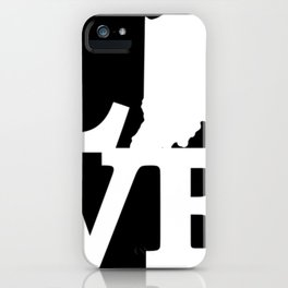 Indiana Pride USA State Love Map iPhone Case