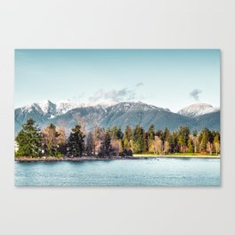 They were shy, and they melted in love with sunlight kisses Canvas Print