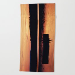 Dock at Dawn Beach Towel