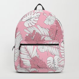 Pretty And Pink In The Tropical Jungle Backpack