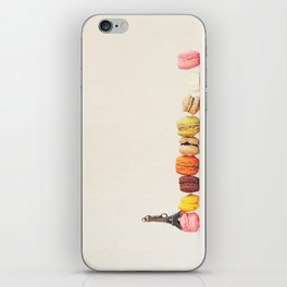 Paris, macaron and the eiffel - Vintage version iPhone Skin