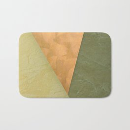 Golden Triangle With Green and Cream Bath Mat