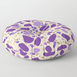 Terrazzo - Mosaic - pastel purples and gold Floor Pillow