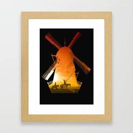 Fighting Giants (dark version) Framed Art Print