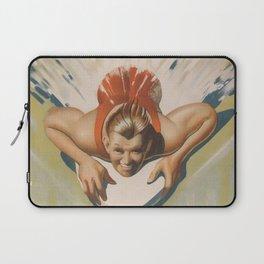 Vintage Surfboard Poster Laptop Sleeve