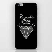 diamonds iPhone & iPod Skins featuring Diamonds by Alex Solis
