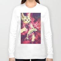 saga Long Sleeve T-shirts featuring Galactic Cats Saga 2 by Carolina Nino