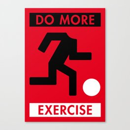 Illustrated new year wishes: #5 DO MORE EXERCISE Canvas Print
