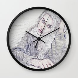 Pensive Mood Wall Clock